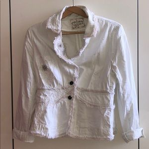 Sugarlips Funky White Cotton Jacket / Blazer